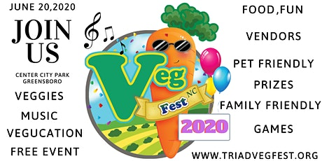4th Annual Triad Vegfest CENTER CITY PARK tickets