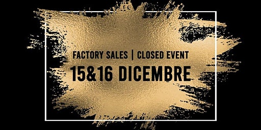 Factory Sales | Closed Event