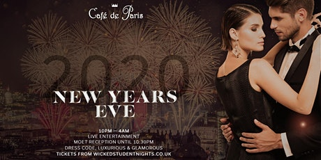 NYE 2019 AT CAFE DE PARIS tickets
