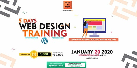 Website Design Training With WordPress tickets