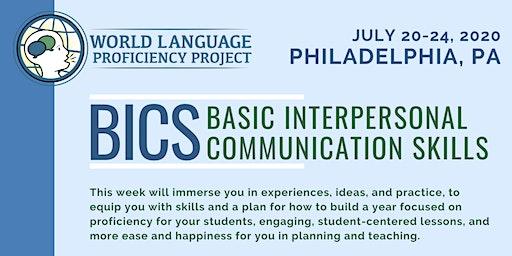 PA Summer Institute BICS (Basic Interpersonal Communication Skills)