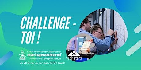 Startup Weekend Laval - Innovation Sociale & Inter-Co. billets