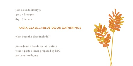 Pasta Class at BDG tickets