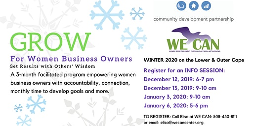 GROW for Women Business Owners on the Lower  Outer Cape