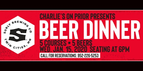Surly Beer Dinner tickets