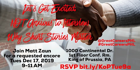 Let's Get Excited; Not Anxious to Interview: Why Short Stories Matter tickets