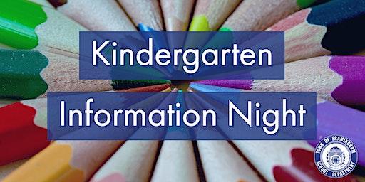 Kindergarten Information Night - Framingham Public Schools
