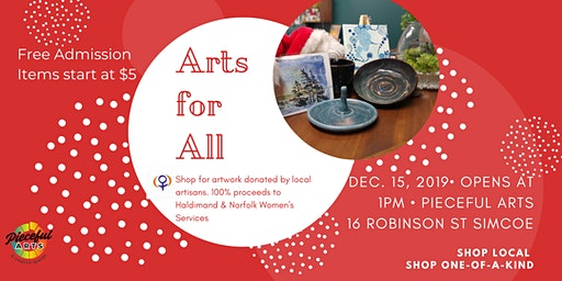 Arts for All - Fundraiser for Haldimand Norfolk Women's Services