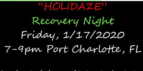 """Cannabis and Crafts  """"Holidaze"""" Recovery Night tickets"""