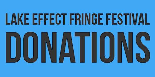 Lake Effect Fringe Festival Donations 2020