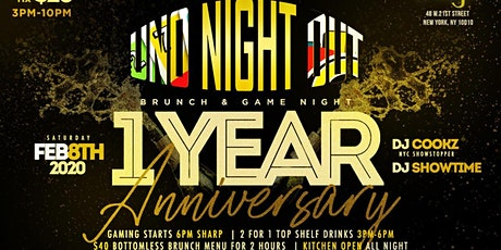 UNO Night Out Brunch & Game Night 1 YEar Anniversary tickets