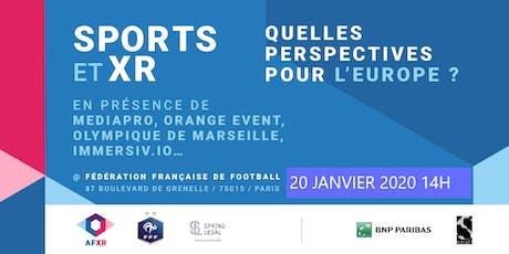 Sports & XR, quelles perspectives ? (20 Janvier 2020  - 14h) billets