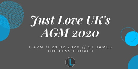 Just Love UK's AGM 2020 tickets