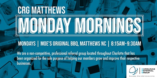 Matthews CRG Weekly Meeting
