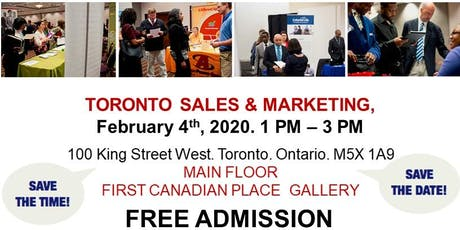 Toronto Sales & Marketing Job Fair - February 4th, 2020 tickets