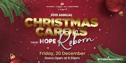2019 Annual Christmas Carols Tagged 'Hope Reborn'