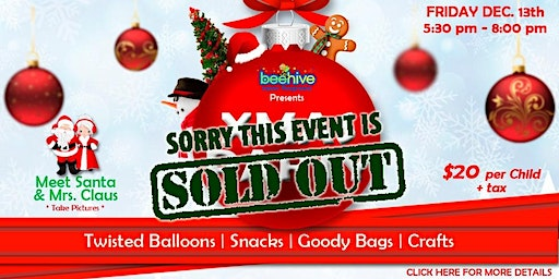 Xmas Party at Beehive **Sold Out**