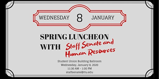 Spring Luncheon with Staff Senate and Human Resources