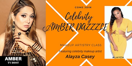 CELEBRITY AMBER DAZZLE  MAKEUP ARTISTRY CLASS