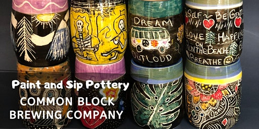 Paint and Sip Pottery at Common Block Brewing!