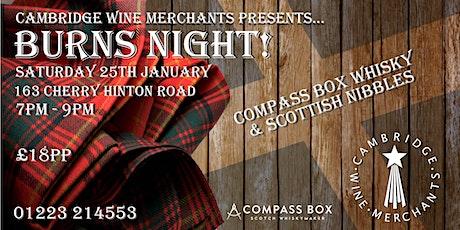 Burns Night at Cambridge Wine Merchants (CH) tickets