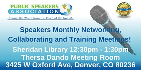 Denver Area Public Speakers Association Chapter Meeting tickets
