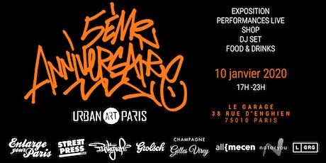 Urban Art Paris fête ses 5 ans! billets