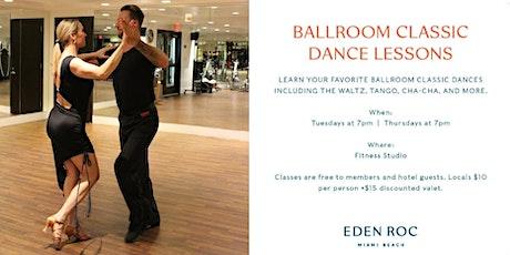 BALLROOM CLASSIC DANCE LESSONS tickets