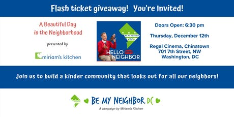 """Miriam's Kitchen presents """"A Beautiful Day in the Neighborhood"""" tickets"""