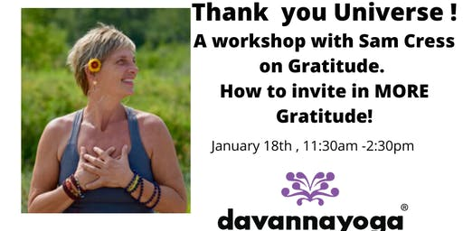 Gratitude Workshop - Thank you Universe!