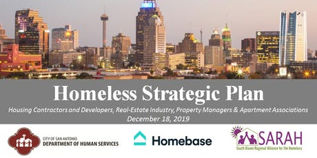 Homeless Strategic Plan Meeting with the Housing Industry tickets