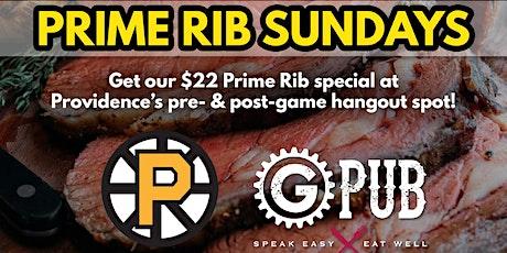 Prime Rib Sundays at GPub tickets