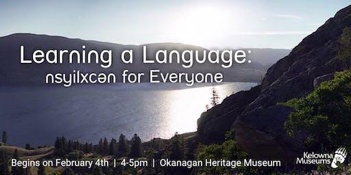 Learning a Language:  nsyilxcən for Everyone