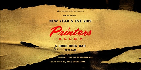 Printers Alley NYE 2020 tickets