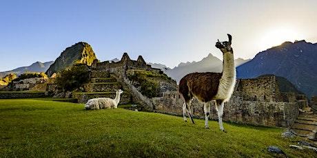 Soirée conférérence sur le Pérou avec Bouchées et Vin tickets