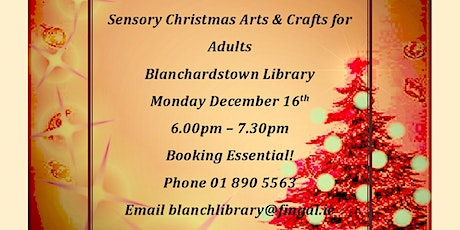 Sensory Christmas Arts and Crafts for Adults tickets
