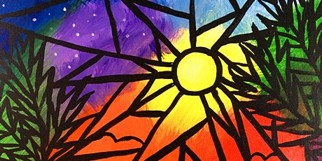$20 Beach Art Stained Glass Style Paint Night tickets