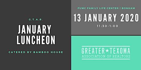 GTAR January Luncheon tickets