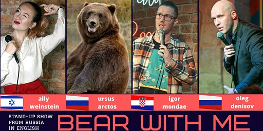 English stand-up: Bear With Me comedy show // Norrköping