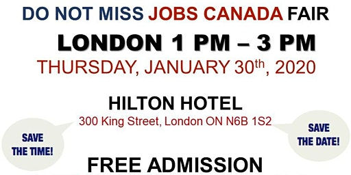 London Job Fair - January 30th, 2020