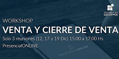 Workshop: Venta y Cierre de Venta- Solicitud de Info entradas