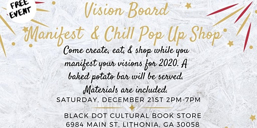 Vision Board Manifest & Chill Pop Up Shop