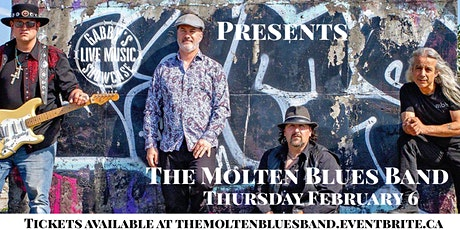 The Molten Blues Band - Gabby's Live Music Showcase tickets