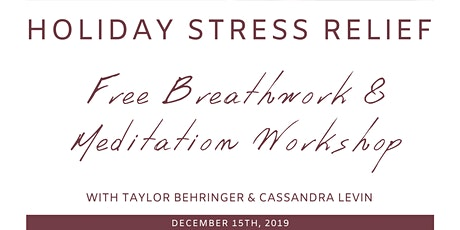Stress Relief Breathwork & Meditation Class tickets