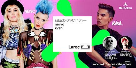 NERVO + KVSH no Laroc ingressos