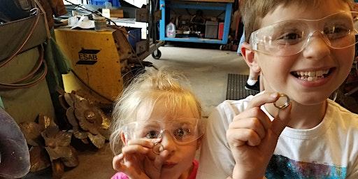 Kids/family coin ring class (blacksmith primer)