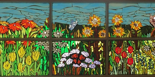 "Mosaic with Mary: ""Spring Fever"" FLORALS in glass"