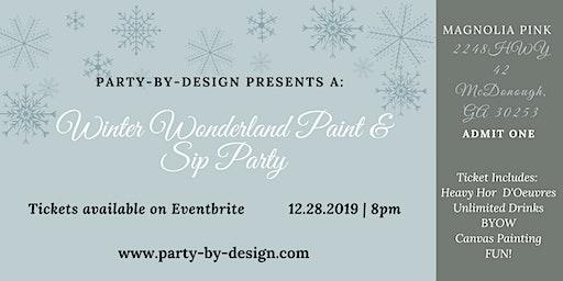 Winter Wonderland Paint & Sip Party