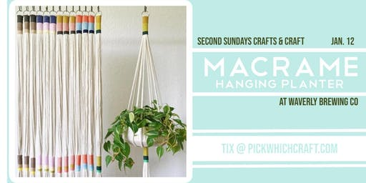 Macrame Hanging Planter Workshop