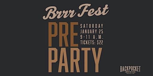 Mug Club BrrrFest Pre Party